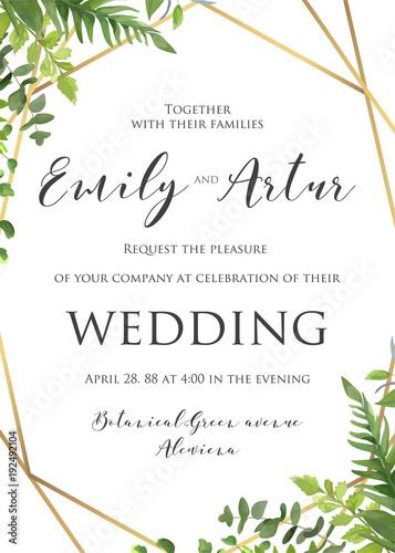 Wedding floral invitation invite save the date template vector wedding floral invitation invite save the date template vector modern elegant card design stopboris Images