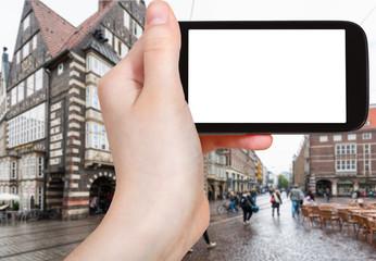 tourist photographs Bremer Marktplatz in Bremen