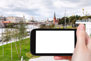 tourist photographs Moskvoretskaya Embankment