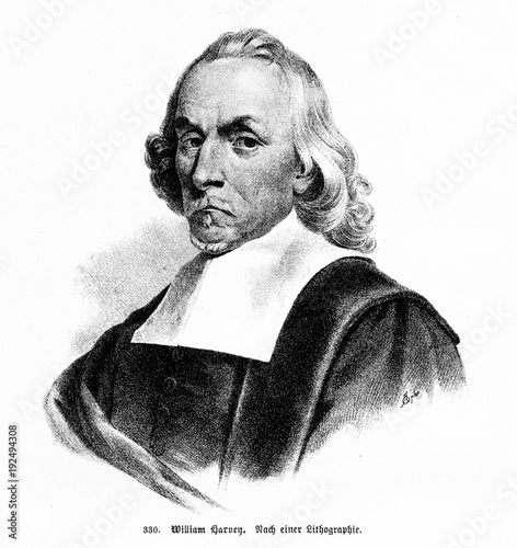 William Harvey, English physician, made important contributions in ...