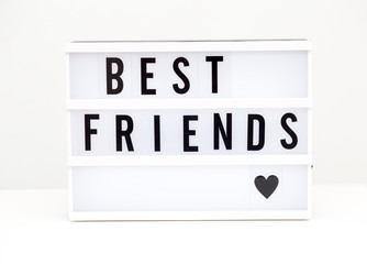 best friends text on the white background