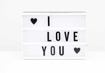 i love you text background