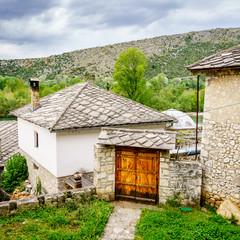 Courtyard in a village