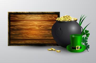 St. Patrick s Day symbol board