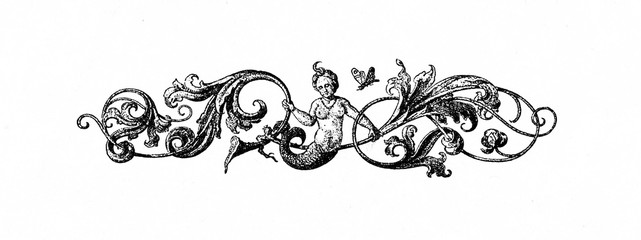 Art nouveau ornament (from Spamers Illustrierte Weltgeschichte, 1894, 5[1], 752)