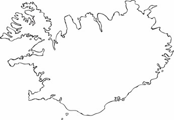 Iceland Map Vector photos, royalty-free images, graphics, vectors ...