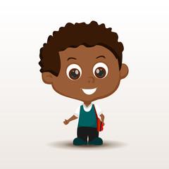 Schoolboy with rucksack