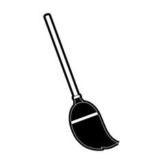 Broom stick tool icon vector illustration graphic design