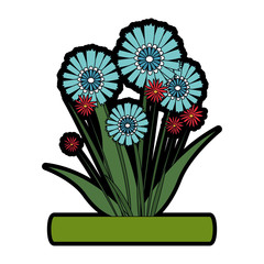 Bouquet of flowers icon vector illustration graphic design
