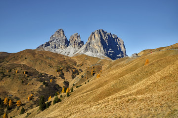 Italy, Dolomite mountains,  Sella pass