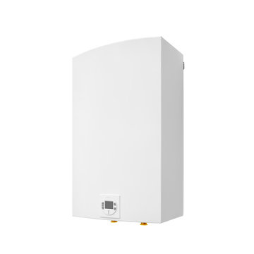 Modern gas automatic water heater boiler isolated on a white background
