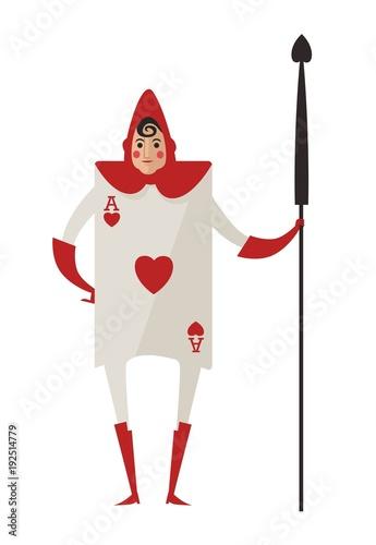 alice in wonderland red card soldier\