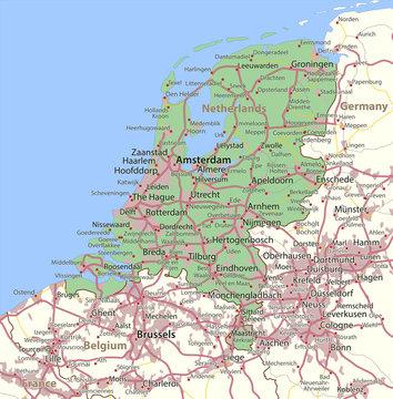 Netherlands-World-Countries-VectorMap-A