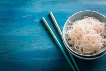 Japanese food - Shirataki noodles (Konjac)