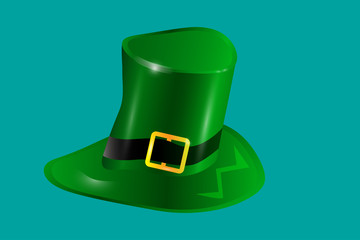 Patricks Day. The hat is green. vector .