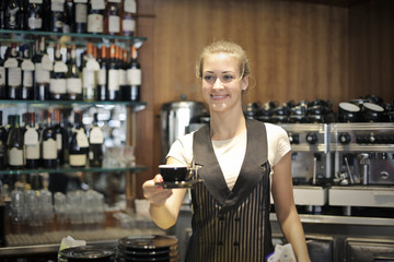 Serving at the bar