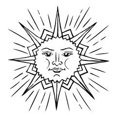 Stylized sun sketch