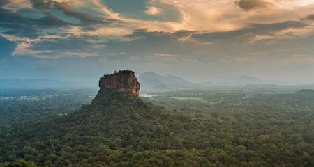 Sigiriya Lion Rock fortress. View from Pidurangala Rock.Sri Lanka    Fototapete