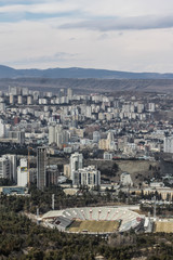 Tbilisi cityscape in spring