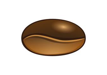 A giant coffee bean. Vector Illustrator