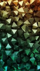 Golden 3D pyramids. Illustration