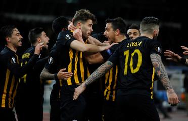 Europa League Round of 32 First Leg - AEK Athens vs Dynamo Kiev