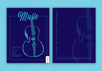 Magazine Cover with Musical Instrument Element