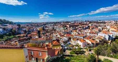 Blick auf Lissabon; Portugal