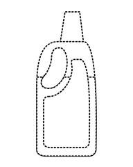 detergent bleach plastic bottle for liquid cleaning vector illustration