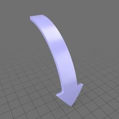 Downward curved arrow 1