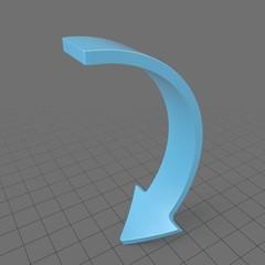 Downward curved arrow 2