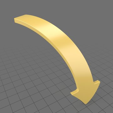 Downward curved arrow 3