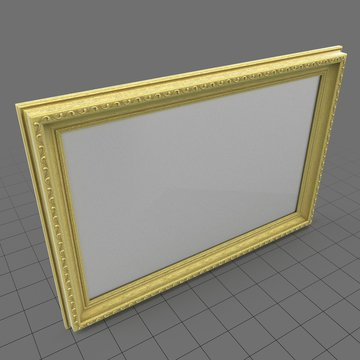 Horizontal picture frame for the wall