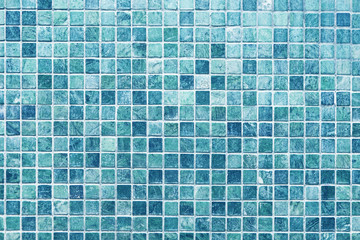 Blue marble mosaic tile texture background Wall mural