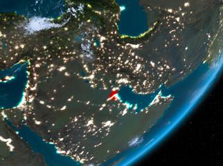 Orbit view of Kuwait at night