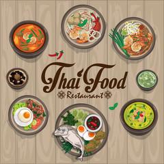 menu thai food design template graphic
