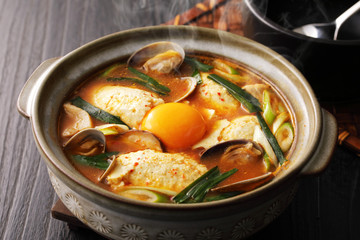 純豆腐 スンドゥブ Sundubu, Korean cuisine