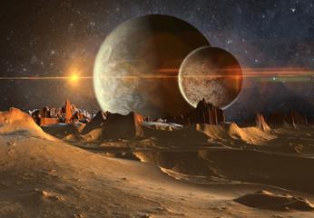 3D Rendered Fantasy Alien Planet - 3D Illustration