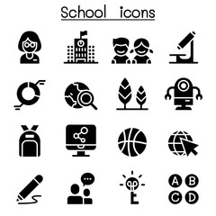 School & Education icon set