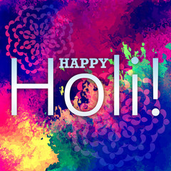 Creative Flyer, Banner or Pamphlet design for Indian Festival of Colours,  Congratulations on spray paints. Happy Holi celebration. - stock vector
