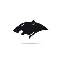 Icon Panther head Logo silhouette isolated on white backgroud,vector