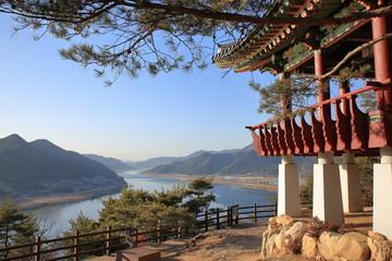 한국의 임경대 풍경