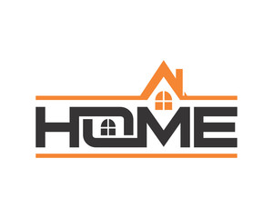 roof home typography housing home residence residential real estate image vector icon