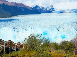 Landscape of blue glacier Perito Moreno located in Southern Patagonia, Argentina, South America