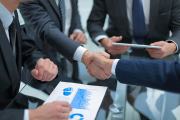 Business handshake and business people concept.