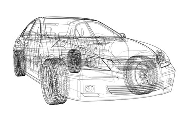 Car sketch. Vector