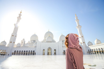 Woman In The Sheikh Zayed Mosque 4 Wall mural