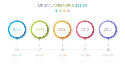 Infographic Elements with business icon on full color background circle process or steps and options workflow diagrams,vector design element eps10 illustration