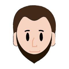 Young man cartoon icon vector illustration graphic design