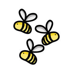 cute bees insect animal flying